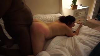 White Slut Wife Enjoying Fucking BBC at the Porn House