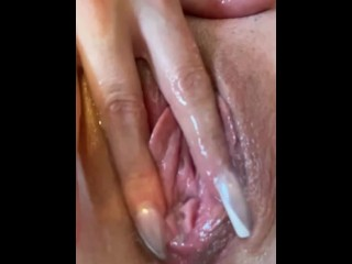 PAWG Leaking Pussy Gets Fingered