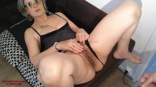Cock in COUGAR MILF MOM hairy pussy with a big ass