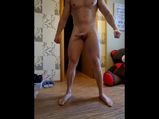 Naked sexy working out...