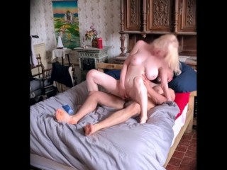 Sex experience with intense female orgasm and foot...
