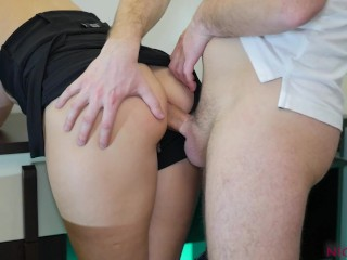 After school hurts anal blowjob...