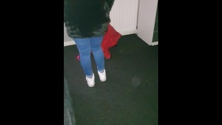 Step mom gets her tight jeans ripped off step son for an Easy Pussy Fuck