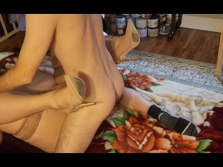 Stunning Curvy Blonde PAWG Loves to Spread her Legs 4 Big Cock ;)