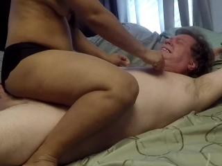 Whip torture and make him eat his cum...