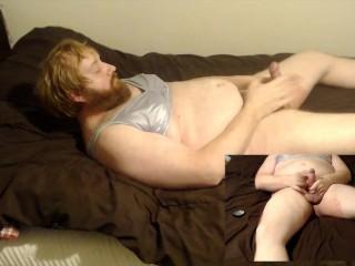 Crossdressing training bra slow cock stroking rubbing my...