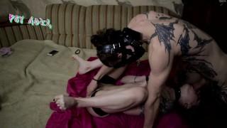 PSY ADEL - Dominant Sloppy Blowjob with Tied up blonde Slut, Cum in Throat\ Huge Cumshot