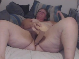 Large dildo play...