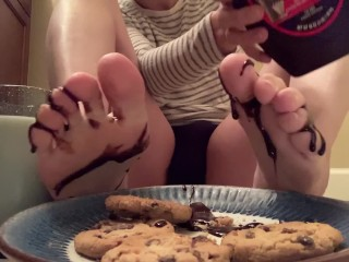 Asmr trans twink covers cookies chocolate syrup and...