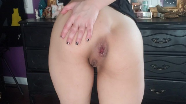 Fucking my gaping wrecked asshole through the pighole XL clip 8