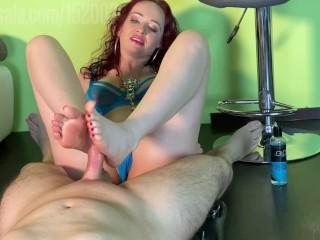 Mistress lady fatale footjob...