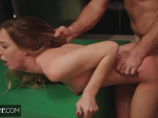 Deeper. Naughty Avery gets spanked & disciplined by stranger