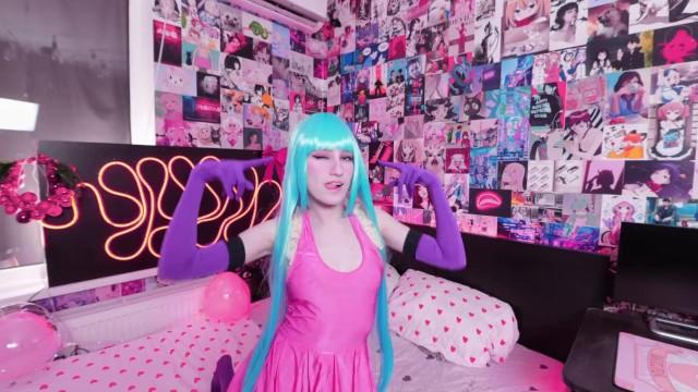 ME! ME! ME! Cosplay Hentai Girl Jumping with Dildo  Sofia Sey 5