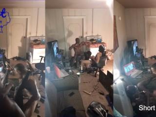 2 Black Guys Tag Team Model Milf Slut Spitroast Train Video Shoot