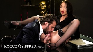 RoccoSiffredi Sexy New Secretary Gets Raw Fingered & Anally Rough Fucked On First Day