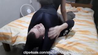 Black leggings headscissors 2KOs