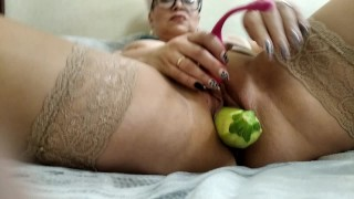 Hard extreme insertions in wet mature lustful MILF cunt! Hot russian sexwife AimeeParadise!