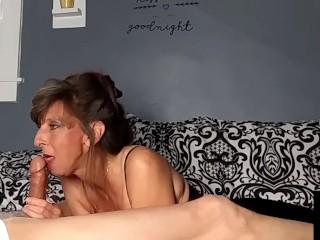 Sexy granny has got magical skills...