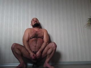 Slutty dani stes handcuffed and tortured big dildo...