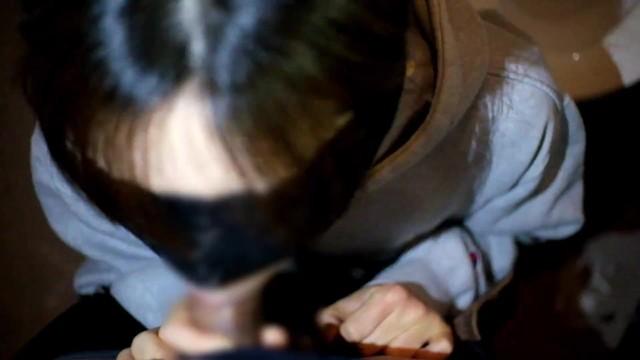 <個人撮影>ド変態の人妻が多目的トイレで男のズボンを脱がしフニャチンを咥え強制的に勃たせてフェラ抜きするwww