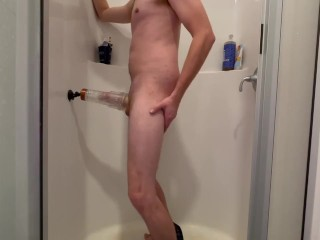 Literally FUCKING my FLESHLIGHT in the shower