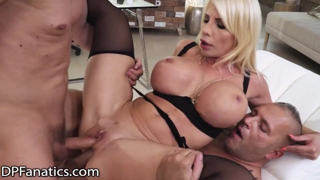 DPFanatics Naughty Cheating MILF Gets Double Raw Fucked By Huge Dicks After Being Caught