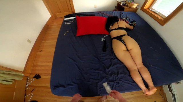 He Fucks Submissive Amateur Babes Face During Rough BDSM Magic Wand Play W/ Huge Facial 2