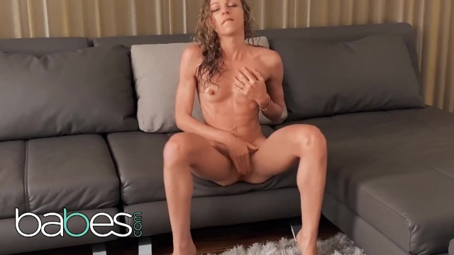 Babes - Petite Angel Emily Gets In Front Of The Camera & Plays With Her Pink Pussy After Her Shower 13