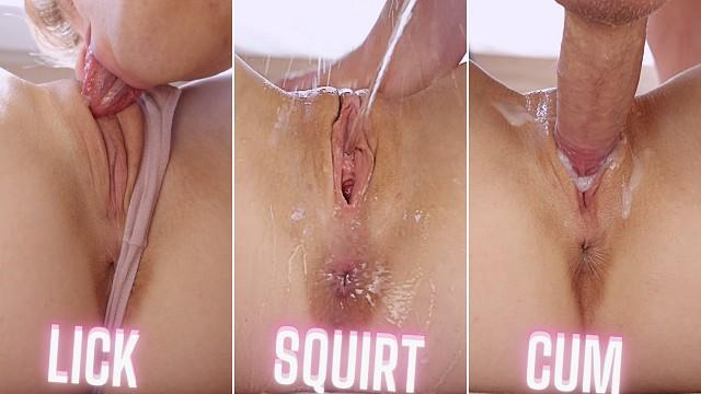 PUSSY EATING   SQUIRTING   CUMMING   Explosive Shaking Orgasm - MrPussyLicking