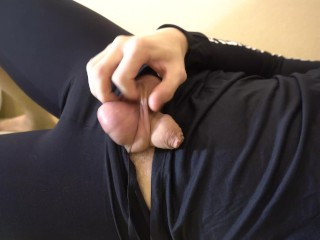 Tight male black leggings...