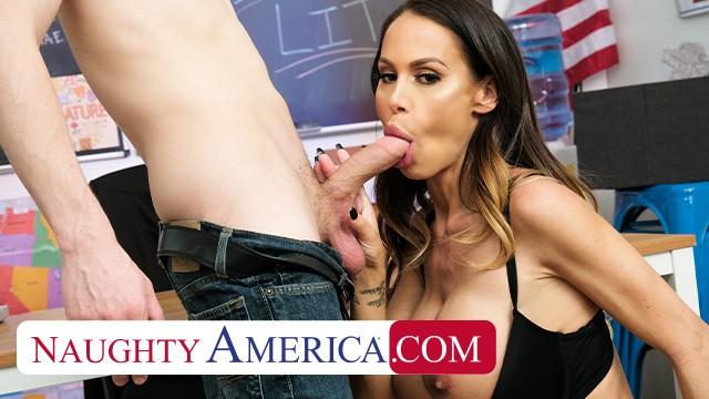 Naughty America - McKenzie Lee fucks her student so he can focus better in  ...