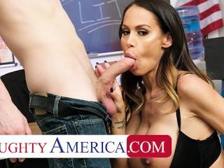Naughty America - McKenzie Lee fucks her student so he can focus better in class