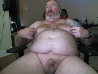 wank with nipple play, cumshot