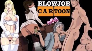 HENTAI BLOWJOB COMPILATION cartoon BJ busty sucks cock till cum - anime fellatio big tits blowjobs