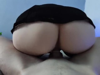 Fucking my a skirt...