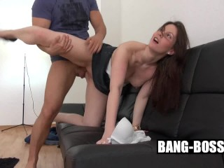 Antje from Germany was fucked at her first Porncasting till orgasm Part 2 - BANG BOSS