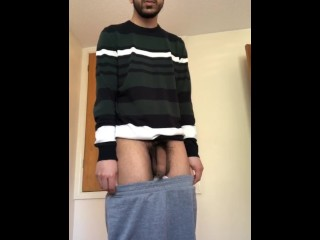 Innocent making soft cock harder and harder while...