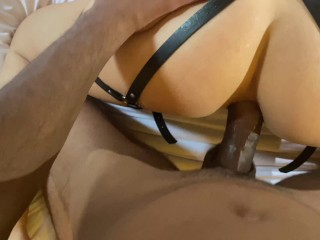 Bound 18 Babe Screaming in Rough Anal Fuck with Creampie / Homemade fuck