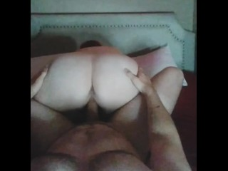 Assed wife taking it all...