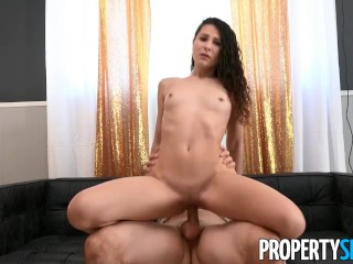 PropertySex Petite Brunette Shows Why She's a Perfect Roommate
