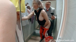 I tried on clothes naked and fucked in the fitting room