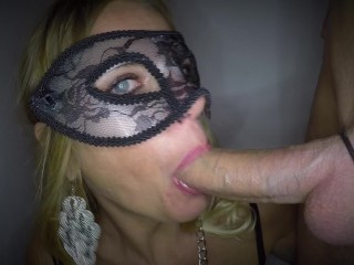 Dutch masked babe fucked in both holes and facial