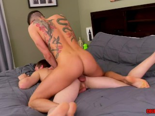 Tatted stud vincent oreilly straight wrecks bottom mickey...