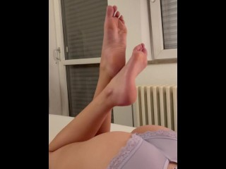 German Girl teases you with her feet