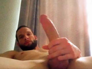 Stroking jacking off and zoom cumshot solo...