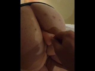 Anal fuck with candy cock