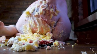 Crushing your Birthday Cake with my fat ass - FULL VIDEO ON ONLYFANS