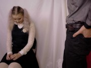 Teacher Fucks Schoolgirl Deep Throat To Teach Her Good Behavior And Studying! homemade incest sex vi