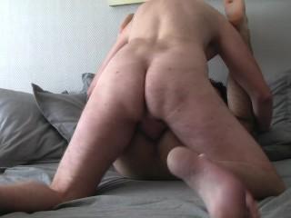 Full creampie cums inside hairy twink...
