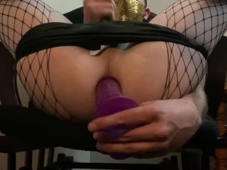 Tall sexy male gets creampied ass destruction machine...